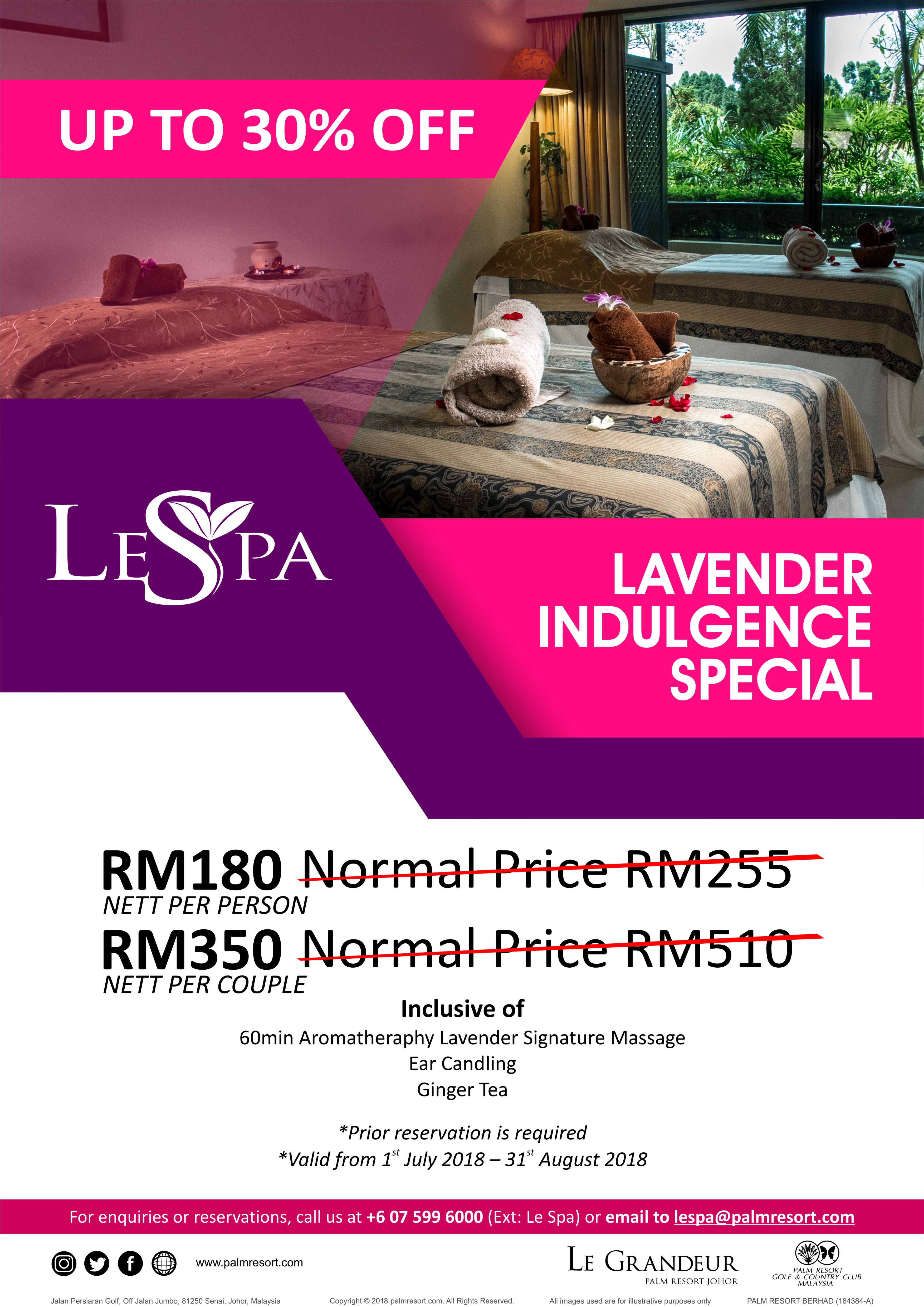 Lavender Indulgence Special