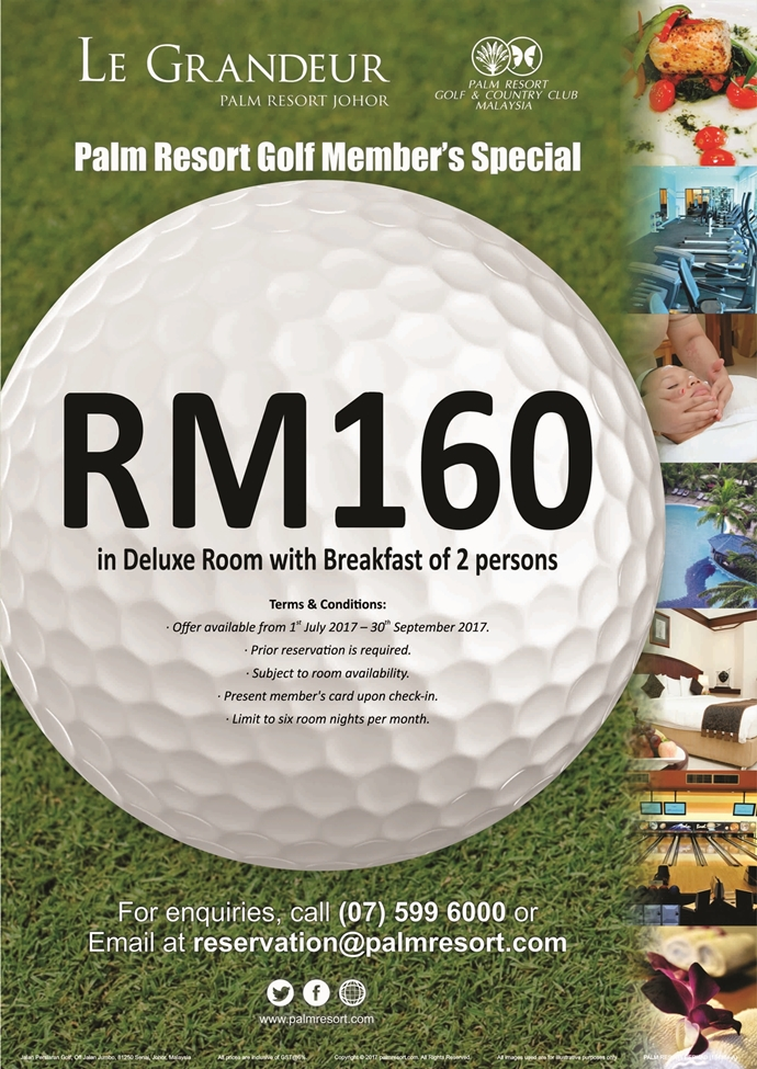 Palm Resort Golf Member's Special 2017