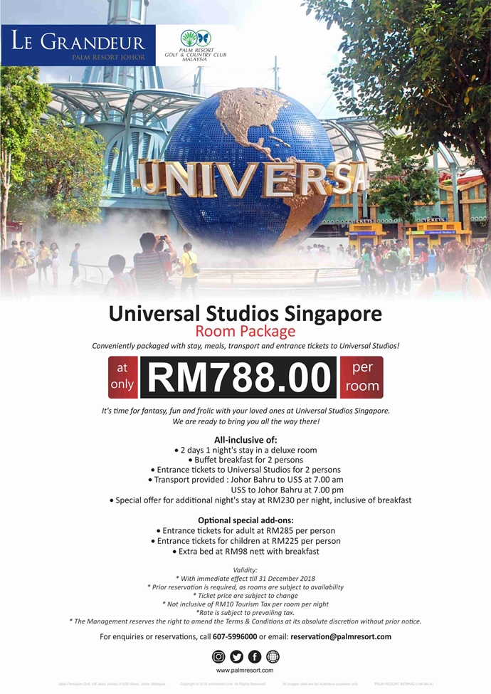 Universal Studio Singapore Room Package