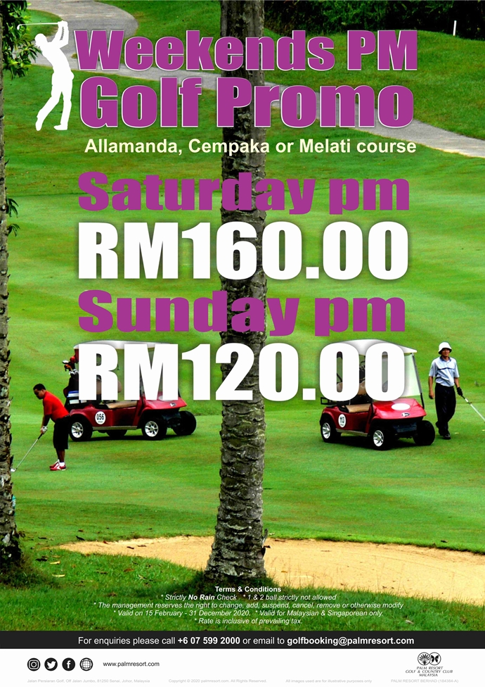 Weekends PM Golf Promo