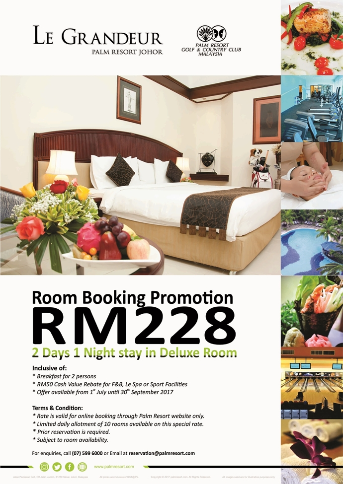 Room Booking Promotion July - September 2017